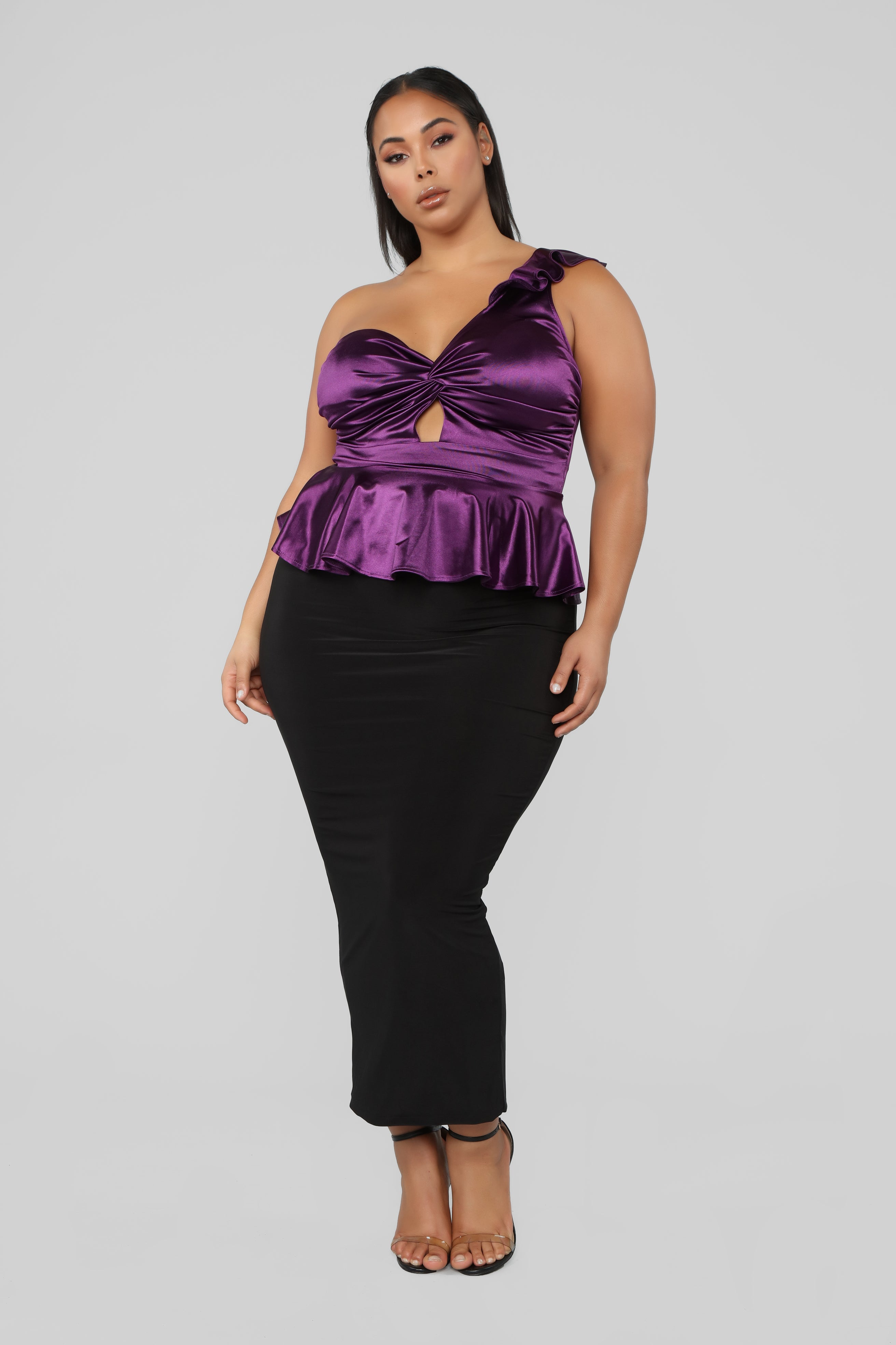 7e3aeb6480a Hooked On Me One Shoulder Top - Purple