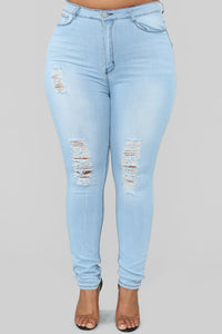 On A Wave Jeans - Light Blue Wash Angle 8