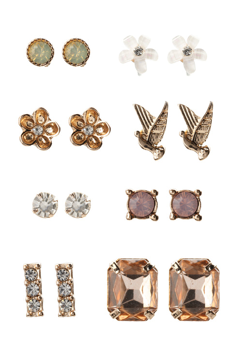 A Lot To You Stud Earring Set - Gold
