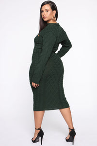 Wanderin' In Your Heart Sweater Dress Set - Hunter Angle 4