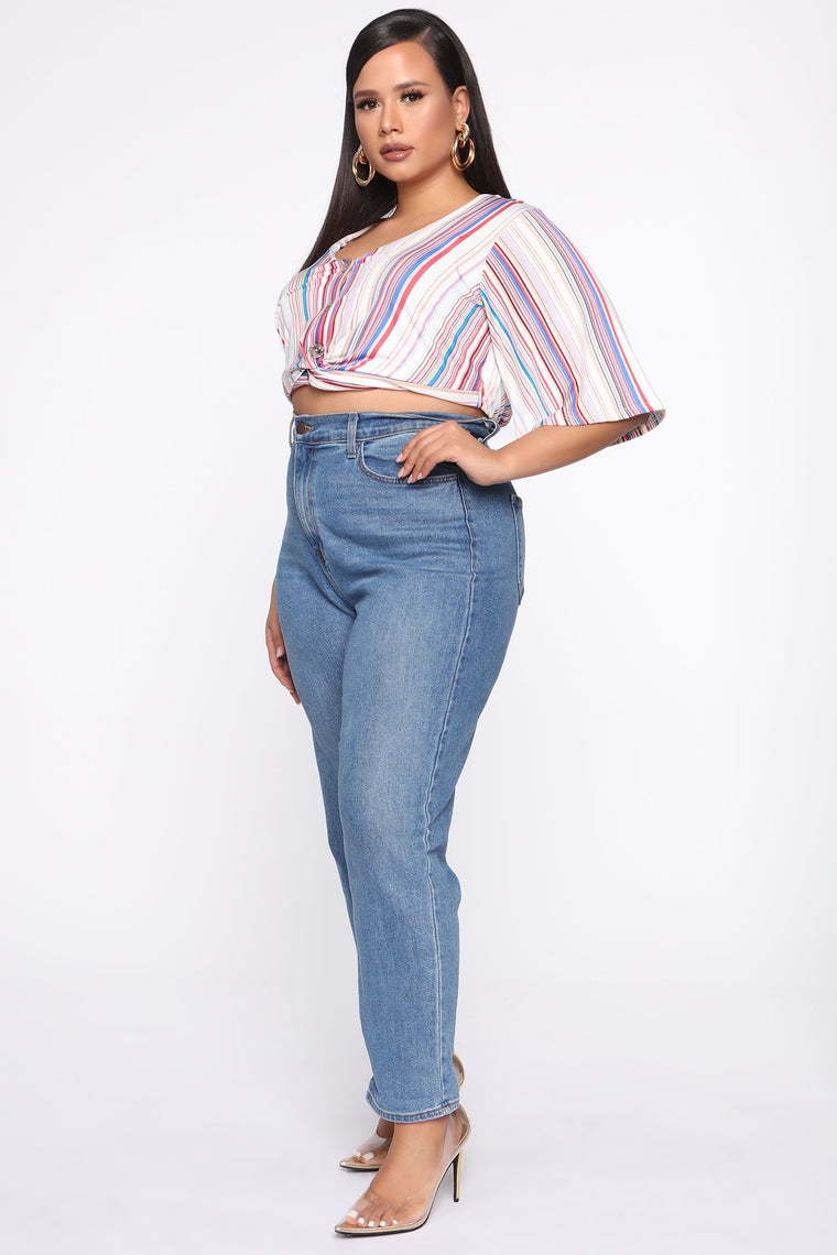 Love For Stripes Top - Blue/Combo