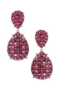Enchanted To Meet You Earrings - Burgundy