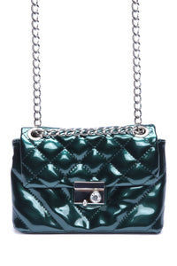 Chantelle Quilted Bag - Green Angle 2