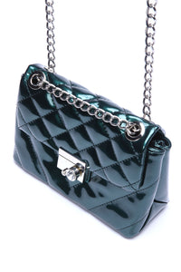 Chantelle Quilted Bag - Green Angle 3