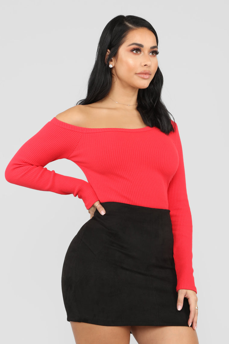 Moments After One Shoulder Top - Red