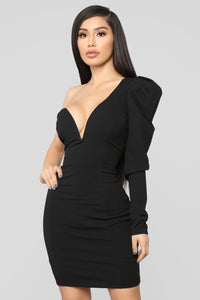 Power Moves Mini Dress - Black