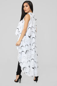 Face To Face Top - White/Black