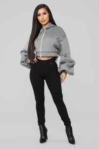 Sonia Crop Top - Grey