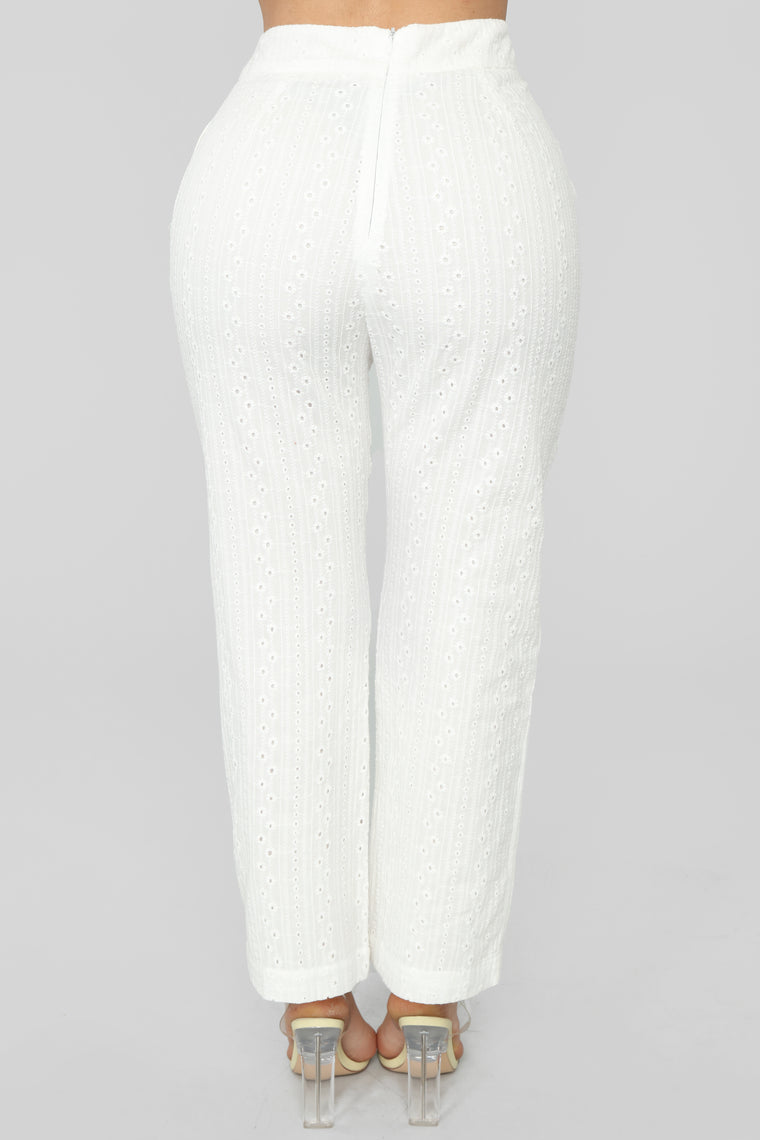 Got My Eyelet On You Set - White