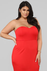 Feeling Exquisite Mermaid Dress - Red