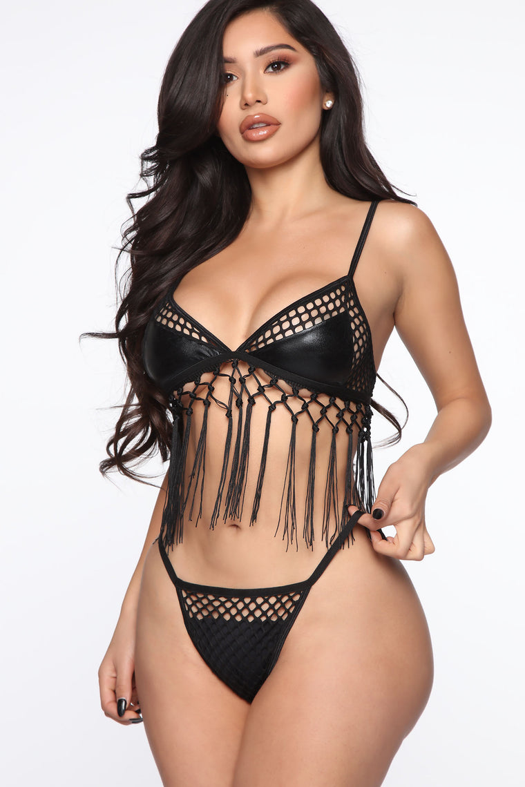 See You In The Desert 2 Piece Dance Set   Black by Fashion Nova