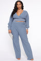 Kinda Love Wide Leg Pant Set - Blue