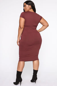 Jojo Dress - Red Brown Angle 13
