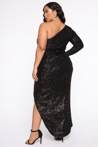 And The Winner Is Sequin Maxi Dress - Black Angle 9