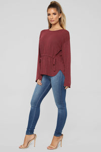 Need Approval Top - Burgundy