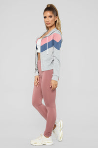 Too Close Colorblock Jacket - Grey