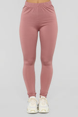 Fleece Aniversario Leggings   Mauve by Fashion Nova