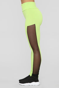 Come Meet Me Lounge Set - Neon Green