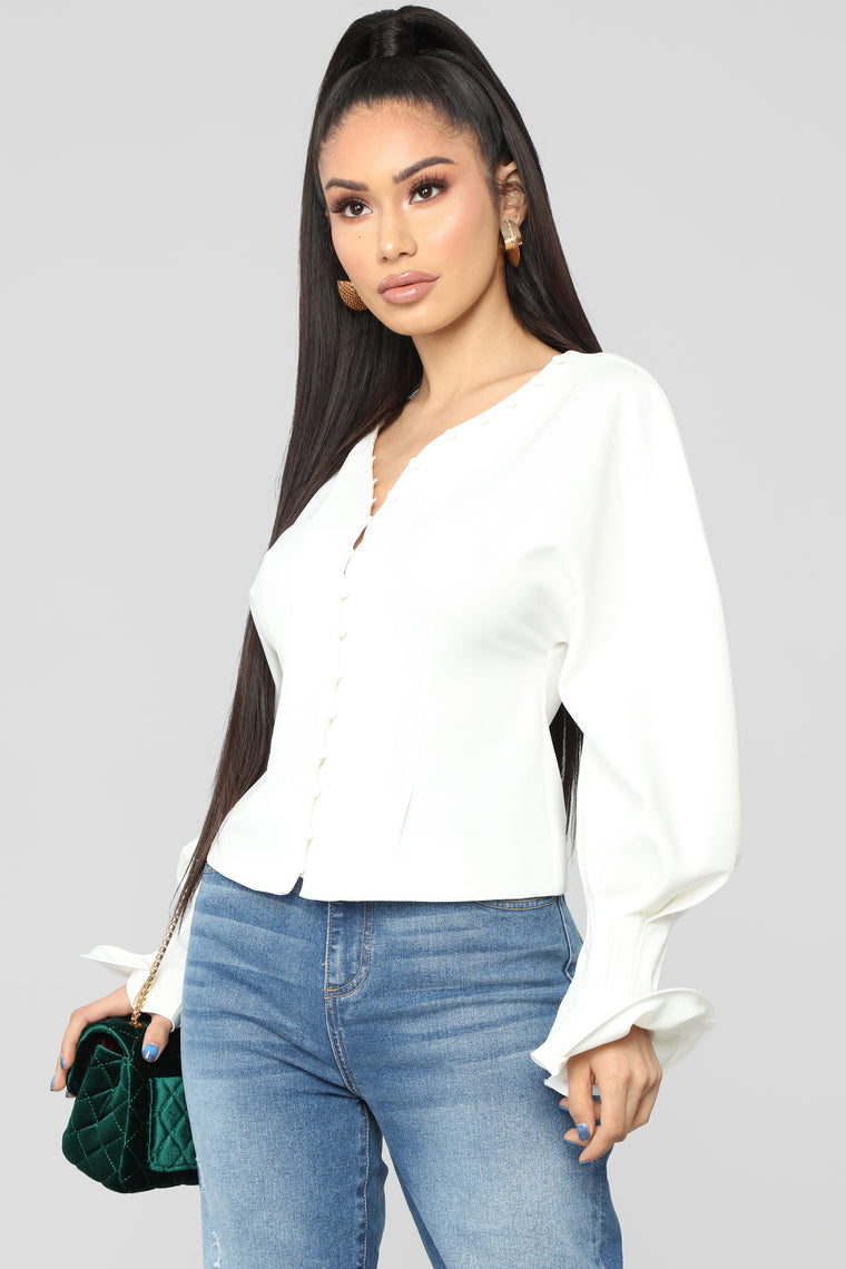 Buttoned Up Top - Off White