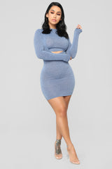 Sense Of Love Sweater Mini Dress   Blue by Fashion Nova