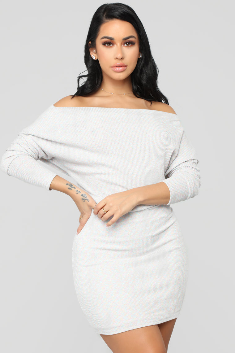 Never Stopped Loving You Sweater Dress - White/Combo