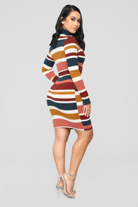 A Walk In Central Park Sweater Dress - Multi