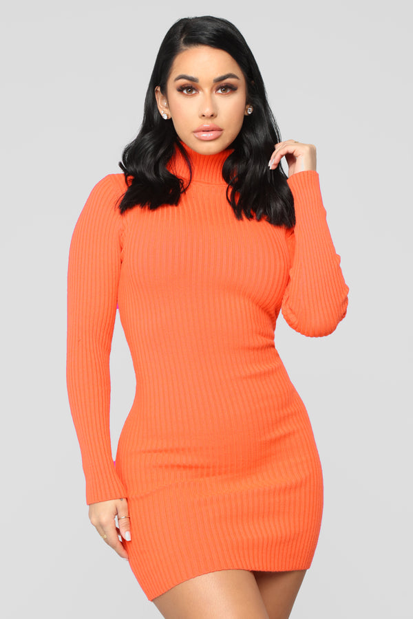 9f231139244 My Favorite Sweater Dress - Orange