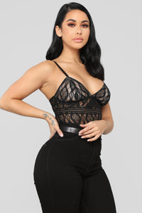 Just One Night Bodysuit - Black Angle 1
