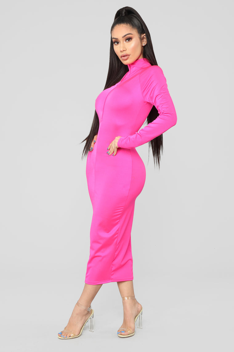 Just A Dream Dress - Fuchsia