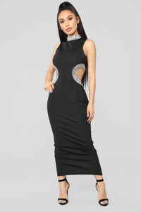 Mystic Jewel Maxi Dress - Black Angle 1