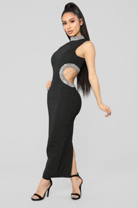 Mystic Jewel Maxi Dress - Black Angle 3