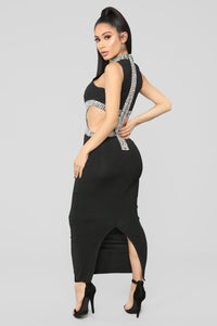 Mystic Jewel Maxi Dress - Black Angle 5
