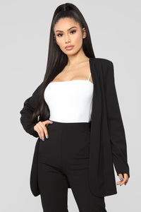 Payin' It Forward Blazer Set - Black Angle 2