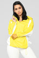 Michelle Nylon Jacket - Yellow