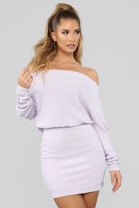 Never Stopped Loving You Sweater Dress - Lavender