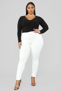Unrivaled And On Top Ponte Pants - Ivory Angle 7