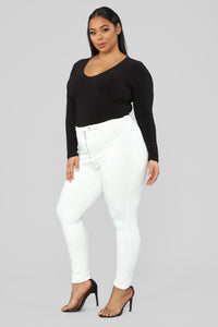 Unrivaled And On Top Ponte Pants - Ivory Angle 11