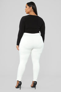 Unrivaled And On Top Ponte Pants - Ivory Angle 8