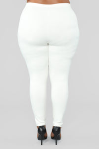 Unrivaled And On Top Ponte Pants - Ivory Angle 10