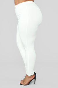 Unrivaled And On Top Ponte Pants - Ivory Angle 12