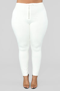 Unrivaled And On Top Ponte Pants - Ivory Angle 9