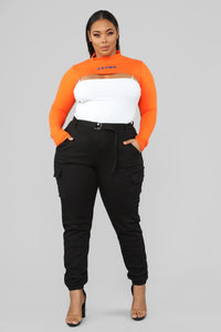Extra Cropped Top - Orange Angle 7
