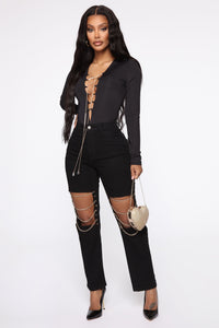Forever Young Bodysuit - Black