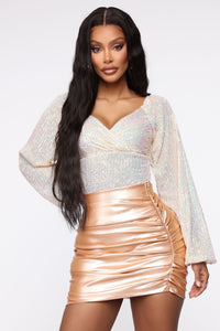 When Sparks Fly Sequin Bodysuit - Hologram