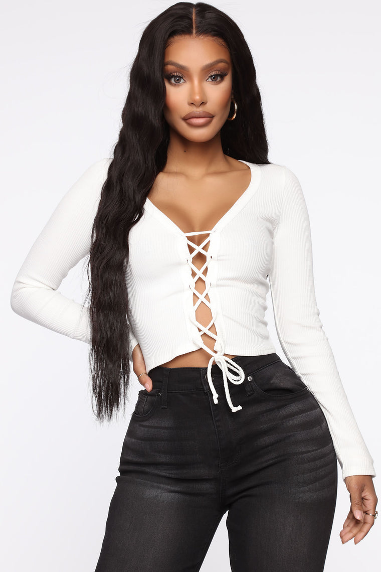 You'll Be On My Mind Top   White by Fashion Nova