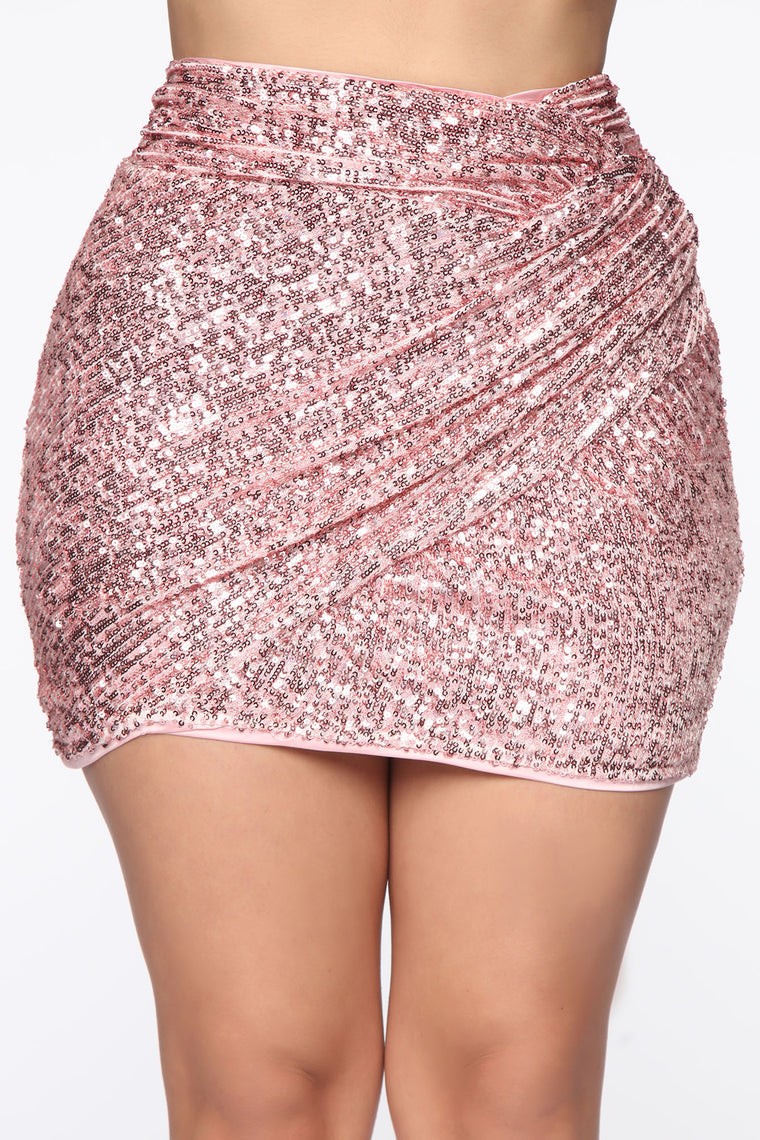 Not Letting A Moment Pass Skirt - Pink