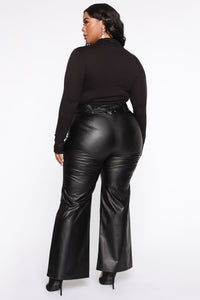 All For The Attention PU Pant - Black