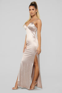 New World Rhinestone Dress - Gold