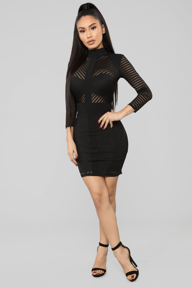 Sight to See Dress - Black