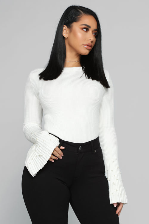 Pearls On Pearls Sweater - Ivory